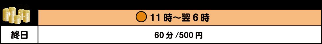 倉敷インター店の卓球料金表