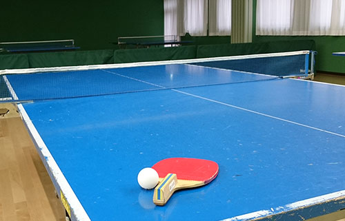 玉島店の卓球台